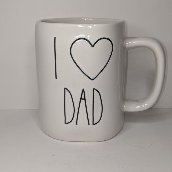 "Rae Dunn ""I Heart Dad"" White Mug"